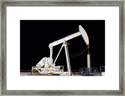 The Pumpjack Oil Pump Framed Print by JC Findley