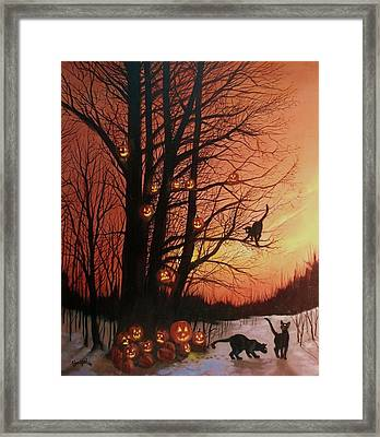 The Pumpkin Tree Framed Print by Tom Shropshire