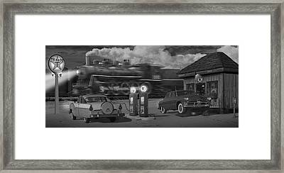The Pumps - Panoramic Framed Print by Mike McGlothlen