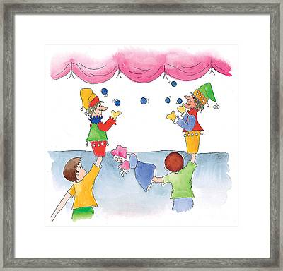 The Puppet Show Framed Print by Leah Wiedemer