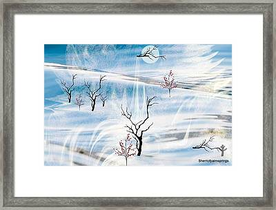 The Purity Of Snow Framed Print by Sherri  Of Palm Springs