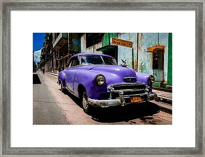 The Purple Boomer  Framed Print by Cecil K Brissette