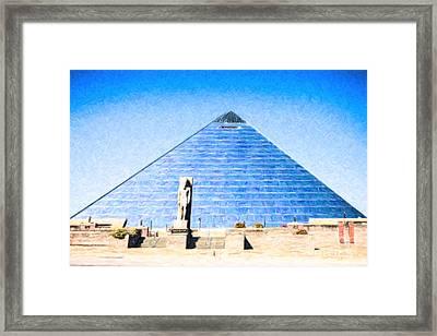 The Pyramid Memphis Tn Usa Framed Print by Liz Leyden