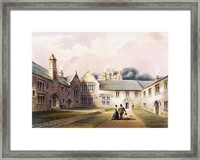 The Quadrangle, Cotehele House Framed Print by English School