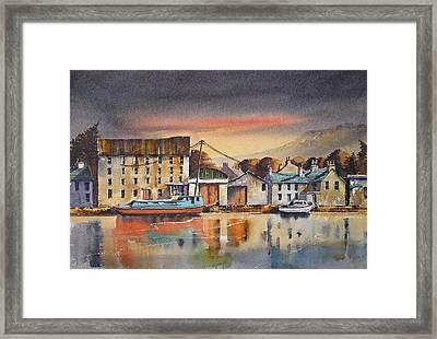 The Quay At Graiguenamanagh Framed Print by Roland Byrne
