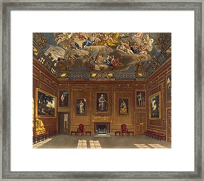 The Queens Audience Chamber, Windsor Framed Print by Charles Wild