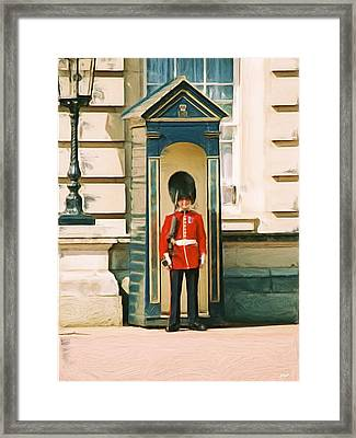 The Queen's Guard Framed Print by Jenny Hudson
