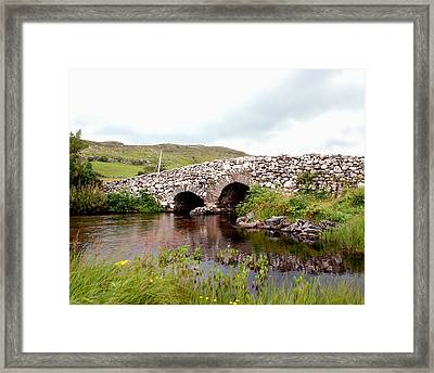 The Quiet Man Bridge Framed Print by Charlie and Norma Brock