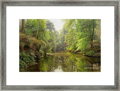 The Quiet River Framed Print by Peder Monsted
