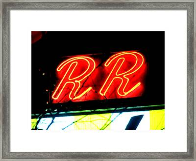 The R And R Framed Print by Luis Ludzska