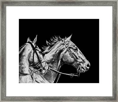The Racers Framed Print by Camille Lopez