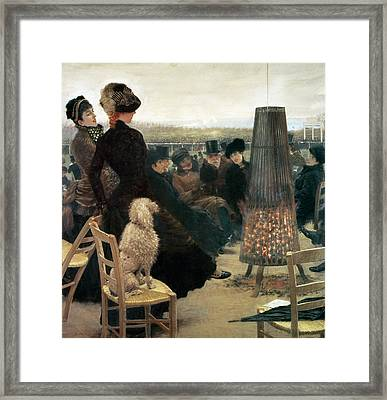 The Races At Auteuil Framed Print by Giuseppe Nittis