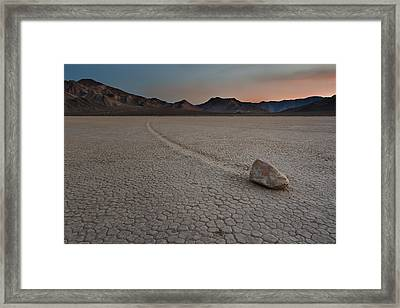The Racetrack At Death Valley National Park Framed Print by Eduard Moldoveanu