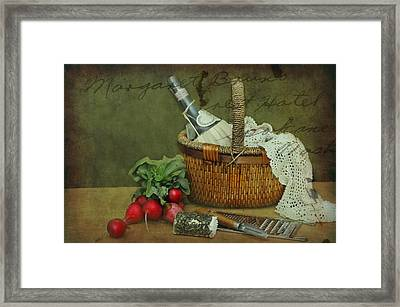 The Radish Basket Framed Print by Diana Angstadt