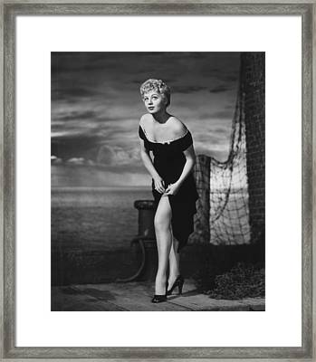 The Raging Tide, Shelley Winters, 1951 Framed Print by Everett