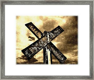 The Railroad Crossing Framed Print by Glenn McCarthy Art and Photography