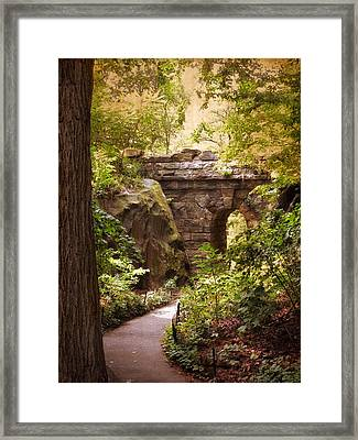 The Ramble Arch Framed Print by Jessica Jenney