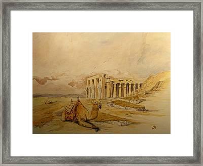 The Ramesseum Theban Necropolis Egypt Framed Print by Juan  Bosco