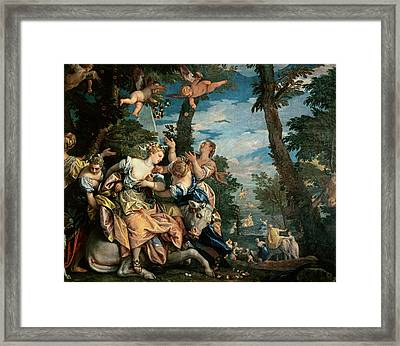 The Rape Of Europa Framed Print by Veronese