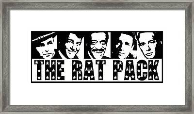 The Rat Pack Framed Print by David G Paul