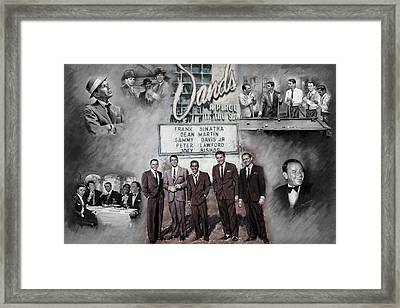 The Rat Pack Framed Print by Viola El