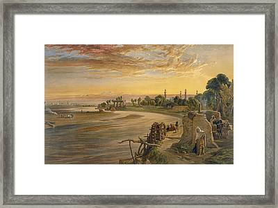 The Ravee River, From India Ancient Framed Print by William 'Crimea' Simpson