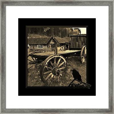 The Raven Flies Straight Framed Print by Barbara St Jean
