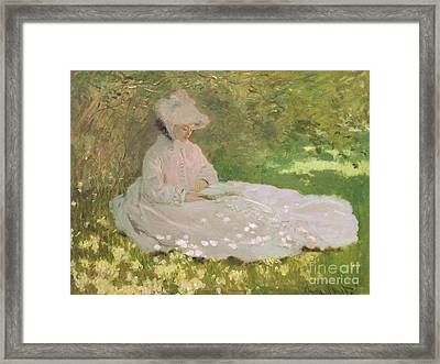 The Reader  Framed Print by Claude Monet