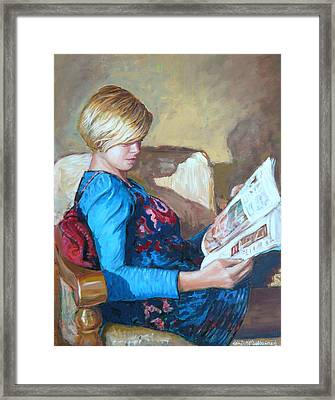 The Reader Framed Print by Tomas OMaoldomhnaigh