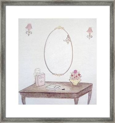 The Reading Table Framed Print by Christine Corretti