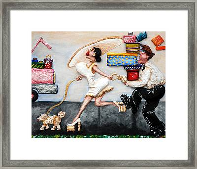 The Real Purpose Of A Man Framed Print by Alison  Galvan
