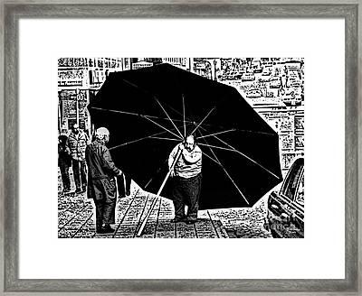 The Really Big Umbrella Framed Print by Jeff Breiman