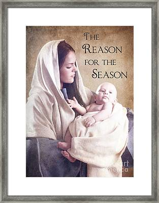 The Reason For The Season Framed Print by Cindy Singleton
