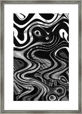 The Recipe Is Black And White And Stir Gently Framed Print by John  Bartosik