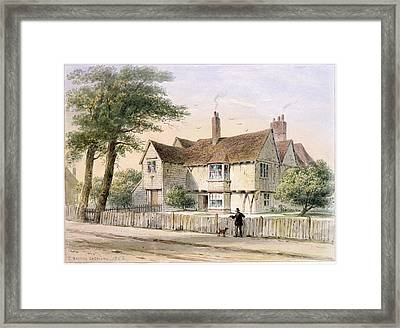 The Rectorial House, Newington Butts, 1852 Wc On Paper Framed Print by Thomas Hosmer Shepherd