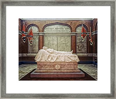 The Recumbent Robert E. Lee Framed Print by Mountain Dreams