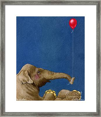 The Red Balloon... Framed Print by Will Bullas