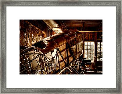 The Red Barn Of The Boeing Company II Framed Print by David Patterson