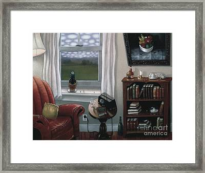 The Red Chair 1997 Framed Print by Larry Preston