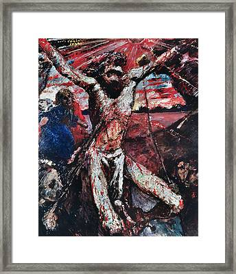 The Red Christ Framed Print by Lovis Corinth