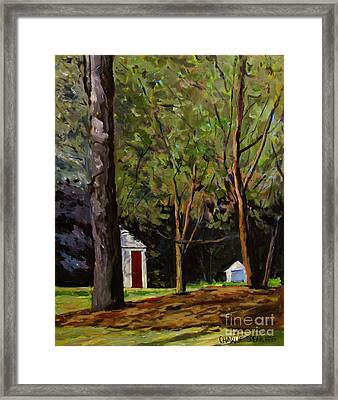 The Red Door Framed Print by Charlie Spear