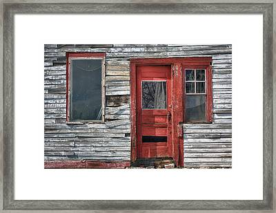 The Red Door Framed Print by Eric Gendron