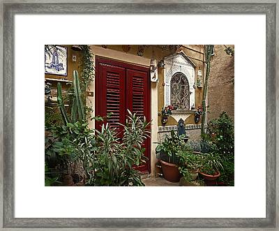The Red Door Framed Print by Lucinda Walter