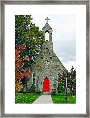 The Red Door Framed Print by Steve Harrington