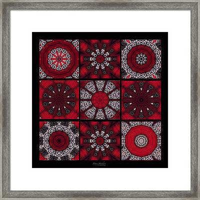 The Red Door Tiles Framed Print by Mary Machare
