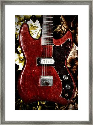 The Red Guitar Blues Framed Print by Bill Cannon