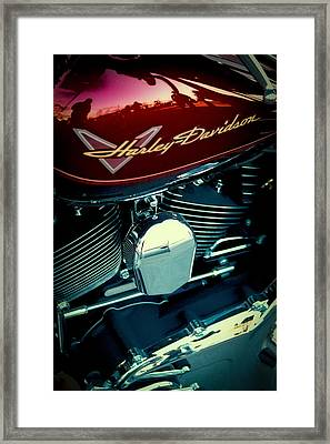 The Red Harley II Framed Print by David Patterson