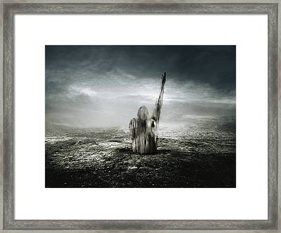 The Red Line Framed Print by Johan Lilja
