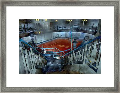 The Red Pool Framed Print by Betsy Knapp