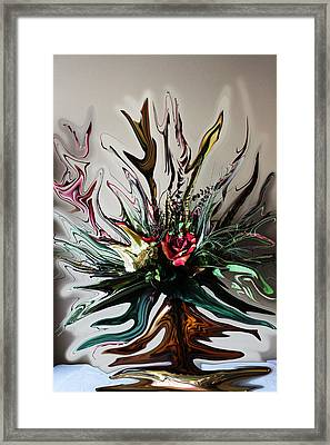 The Red Rose Framed Print by Ella Char